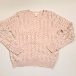 H&M light pink cable knit crew neck top💜2/$24💜